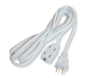 EXTENSION ELECTRICA VOLTECK BLANCA  2 MTS.