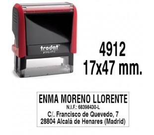 SELLO TRODAT 4912 47X18 MM DE TEXTO PERSONALIZADO