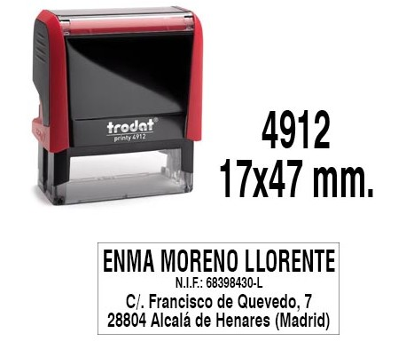 TRODAT 4912 47X18 MM DE TEXTO