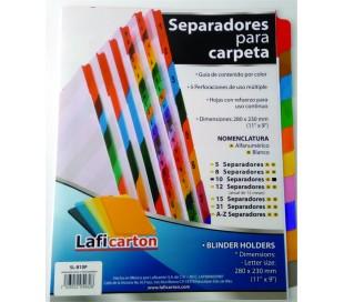 SEPARADORES LAFICA 10 POS. CEJA DE COLOR
