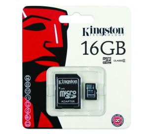 MEMORIA MICRO SD KINGSTON 16GB CLASS 4