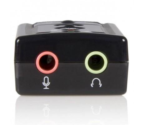 ADAPTADOR USB A AUDIFONO Y MICROFONO.