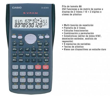 Resultado de imagen para CALCULADORA CIENTIFICA FX-82 MS CASIO
