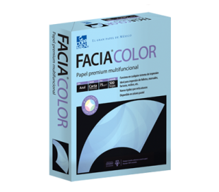 PAPEL FACIA COLOR AZUL T/ CARTA CON 500 HJS