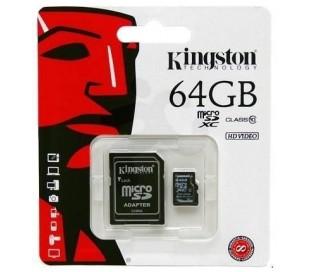 MICRO SD KINGSTON 64 GB CLASE 10 HC I