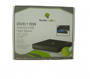 LECTOR  EXTERNO DE DVD+RW USB  TECHMAKRON