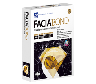 PAPEL FACIA BOND CARTA CON 500 HJS BLANCO