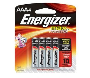 PILAS ENERGIZER AAA PAQ. C/4 PZ.