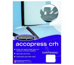 FOLDER ACCOPRESS OFICIO CRH AZUL CLARO
