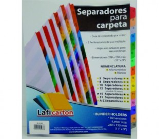 SEPARADORES LAFICA 15 POS. CEJA DE COLOR