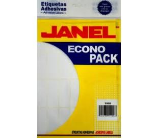 ETIQUETAS ADHESIVAS JANEL No. 4 MED. 08 20 ECONO PACK