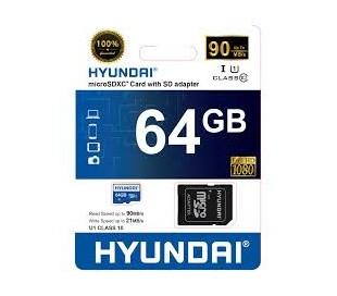 MEMORIA HYUNDAI MICRO SD DE 64 GB CLASS 10 VEL. 95 MBS