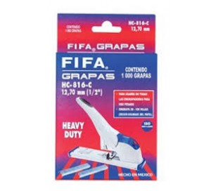 "GRAPAS FIFA 1/2"" 12,70mm MOD. HC-816-C CAJA C/1000 GRAPAS"
